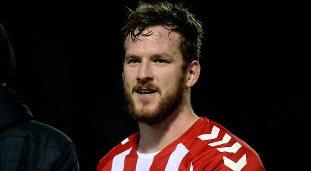 Ryan McBride, captain of Derry City, who died suddenly. Photo: Oliver McVeigh/Sportsfile