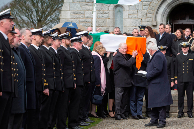 The funeral of Captain Dara Fitzpatrick