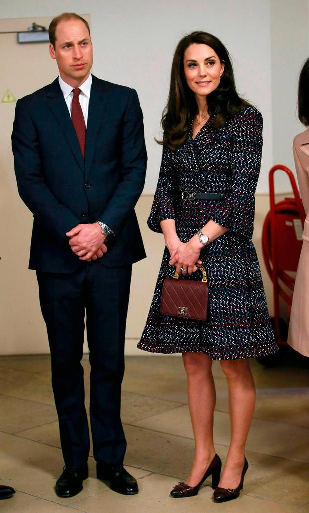 Britain's Catherine the Duchess of Cambridge and Prince William visit the Hotel des Invalides in Paris, France, March 18, 2017. REUTERS/Gonzalo Fuentes