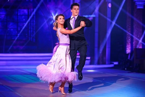 Dayl Cronin and Ksenia Zsihotska who were voted off during the semi final of RTE's Dancing with the Stars. Picture: Darren Kinsella