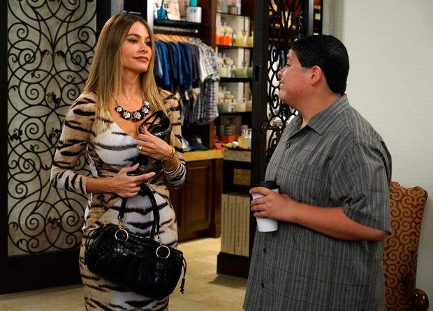 Sofia Vergara as Gloria and Rico Rodriguez as Manny in Modern Family