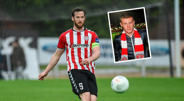 Ryan McBride and (inset) James McClean