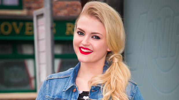 Bethany Pratt, played by Lucy Fallon, on Coronation Street