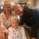 George Clooney at Sunrise Sonning Retirement Home. Picture: Facebook