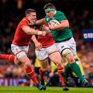 Ireland's CJ Stander in action against Wales