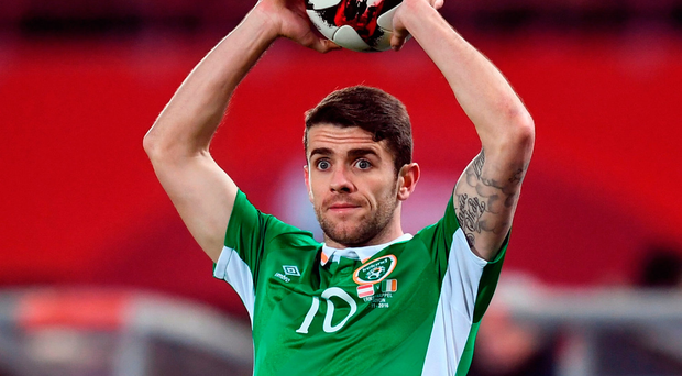 Robbie Brady. Position: Left back/midfield. Last start: v Austria (November). Reason for absence: Suspension. Likely replacement: Stephen Ward. Photo: Stephen McCarthy/Sportsfile