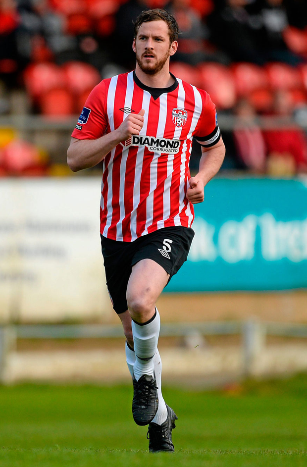 Derry City captain Ryan McBride died at the at age of 27. Photo: Oliver McVeigh/Sportsfile