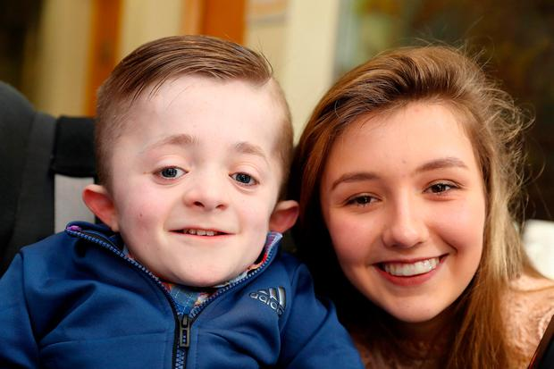 Right: Michael Stokes (14) from Dublin and Jenna O'Brien (15) from Limerick at the launch. Photos: Maxwells