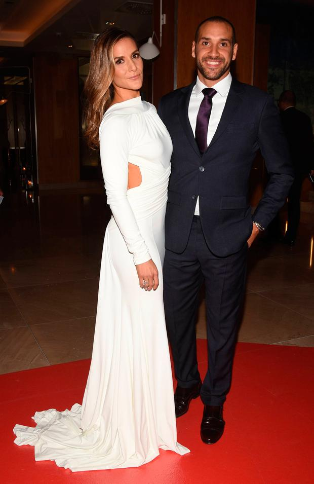 Amanda Byram and husband Julian Okines at The Pride of Ireland Awards 2016