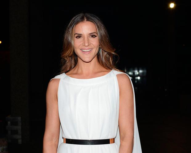 Amanda Byram outside The Ray Darcy Show in 2017