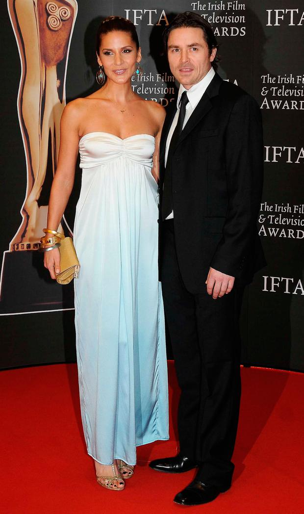 Amanda Byram and ex fiancé Craig McMullen in 2009