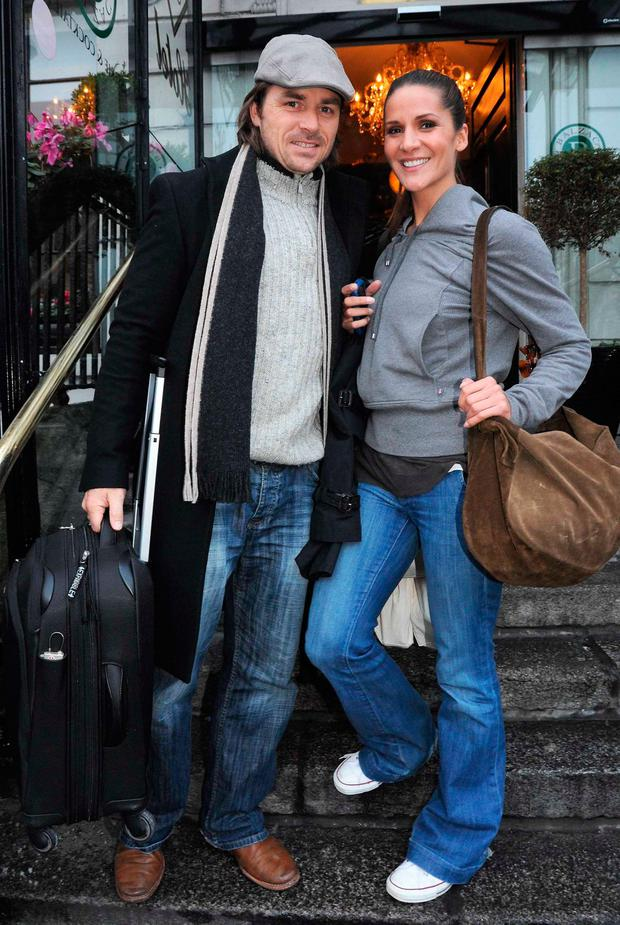 Amanda Byram and ex fiancé Craig McMullen in 2010