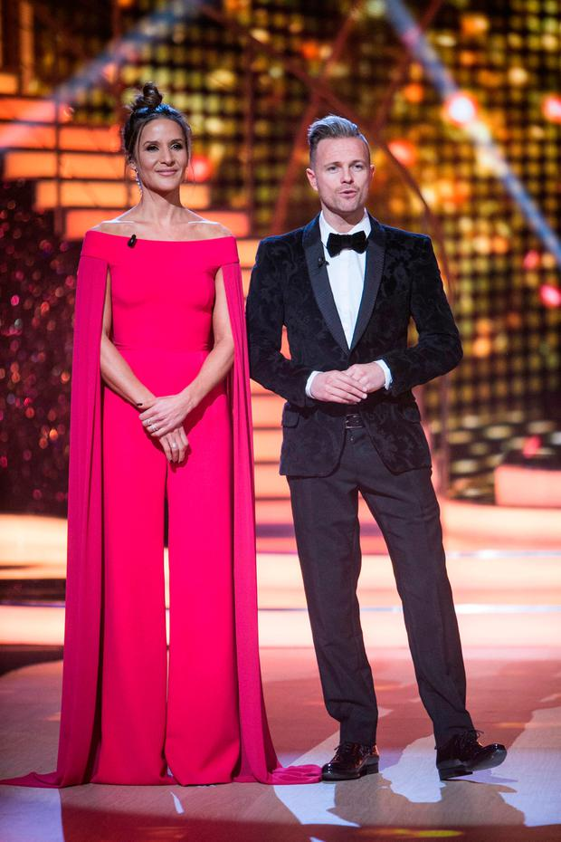 Amanda Byram and Nicky Byrne hosting RTE's Dancing With The Stars. Picture: KOBPIX