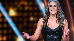 Amanda Byram hosting RTE's Dancing With The Stars. Picture: KOBPIX
