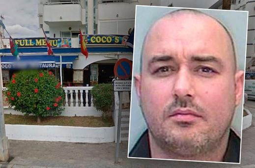 Coco's Bar on the Costa del Sol (Inset: Darren O'Flaherty)