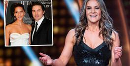 Amanda Byram, centre, hosting RTE's Dancing With The Stars and and left, with ex fiancé Craig McMullen