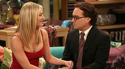 Penny and Leonard in The Big Bang Theory