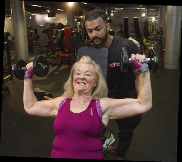 Granny Lisa Gregg said she was lucky to meet Aamir Ishtiaque, a personal trainer who transformed her life