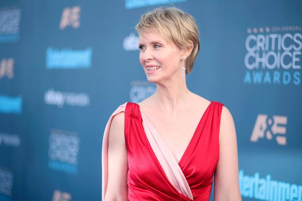 Actress Cynthia Nixon attends The 22nd Annual Critics' Choice Awards at Barker Hangar on December 11, 2016 in Santa Monica, California. (Photo by Christopher Polk/Getty Images for The Critics' Choice Awards )