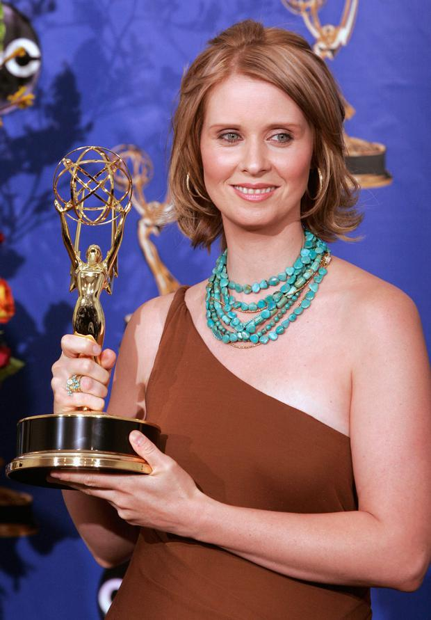 Actress Cynthia Nixon, winner for Outstanding Supporting Actress in a Comedy Series for
