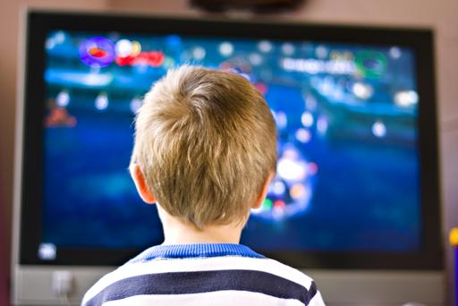 'You do not want to attempt to get through the first year with a child without a telly'. Stock photo