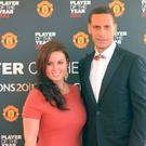 Rio Ferdinand with his late wife Rebecca at Manchester United's annual club awards event in 2013