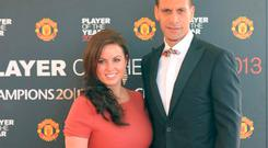 Rio Ferdinand with his late wife Rebecca