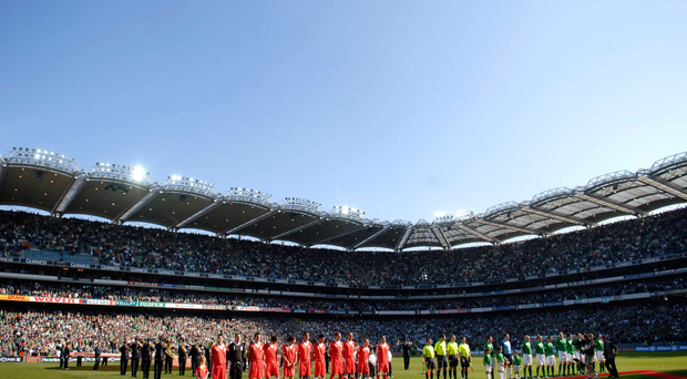 Ireland and Wales ahead of Croke Park clash in 2007