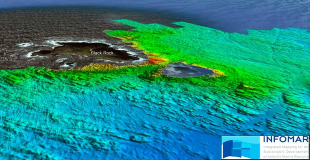 Multibeam Sonar image of the seabed taken by INFOMAR