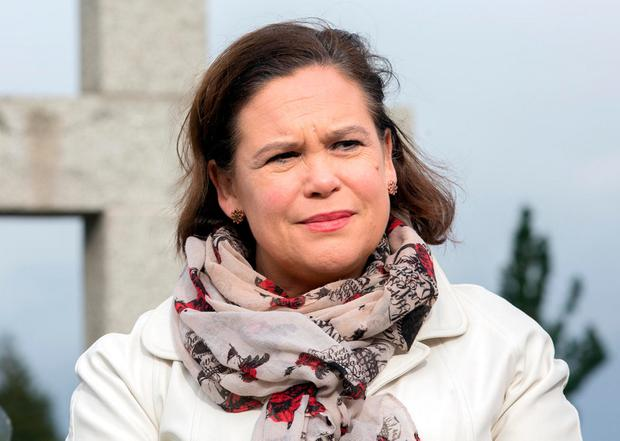 Sinn Féin's Mary Lou McDonald paid tribute to Martin McGuinness: 'he was an IRA volunteer, a risk taker, a hope giver'. Photo: Tony Gavin