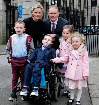 'Extraordinary care and love': Tadgh Costello and his family Picture: Courtpix