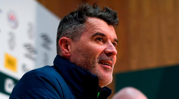 Republic of Ireland assistant manager Roy Keane during a press conference at FAI National Training Centre, in Abbotstown, Co. Dublin. Photo: David Maher/Sportsfile