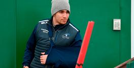 Ultan Dillane sits out Connacht Rugby squad training at The Sportsground in Galway. Photo: Diarmuid Greene/Sportsfile