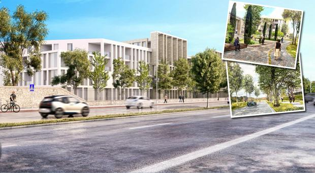 An artist's impression of how the site in Dublin 4 could look once developed. The 8.64-acre site has been brought to market with a guide price of €75m and is expected to attract a lot of interest.