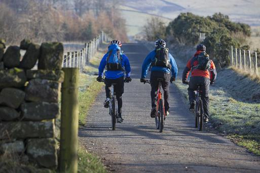 Farm Contractors Association (FCI) said the requirement to allow 1.5 metre space to overtake a cyclist is difficult to achieve with tractors in many N and R grade roads. Photo: Getty Images