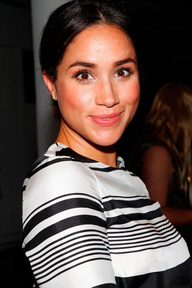 Meghan Markle attends the Peter Som fashion show during Mercedes-Benz Fashion Week Spring 2015 at Milk Studios on September 5, 2014 in New York City. (Photo by Mireya Acierto/Getty Images)