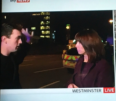 Tiernan speaking with Kay Burley