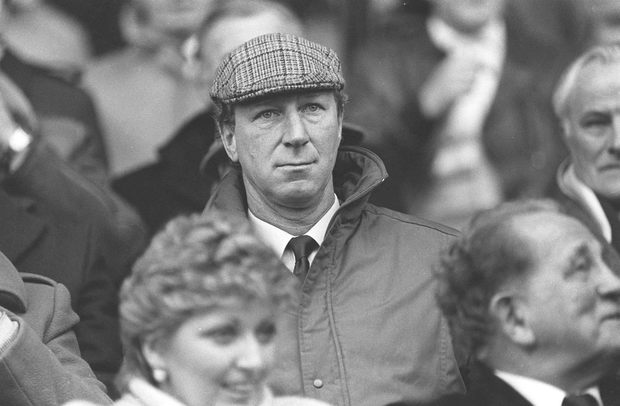 Ireland manager Jack Charlton looks on from the stands during his first game. Photo: Sportsfile