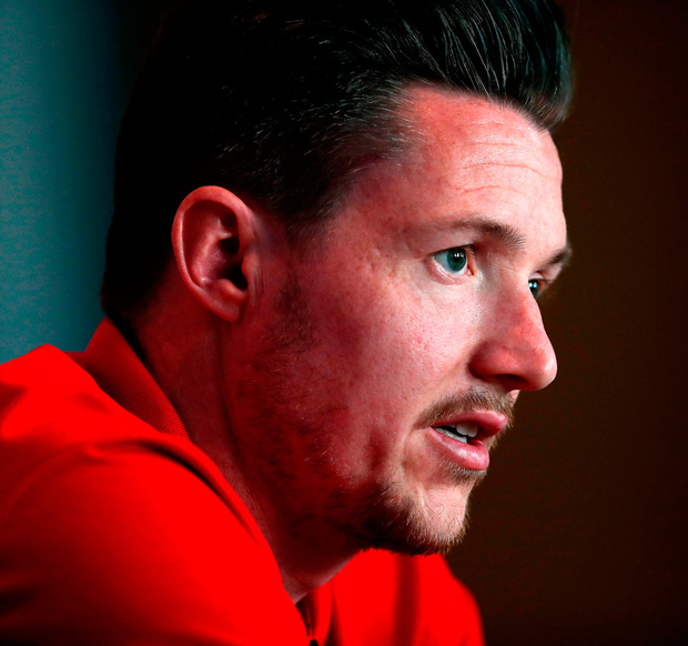 Wales' Wayne Hennessey during a press conference at The Vale Resort, Hensol, Wales yesterday..