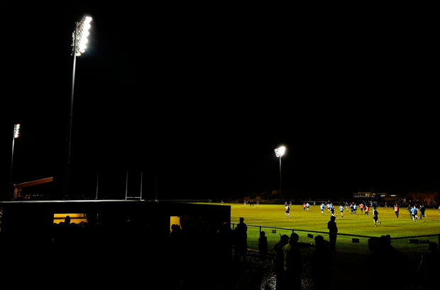 A general view of Lakepoint Park ahead of the start of the second half during the EirGrid Leinster GAA Football U21 Championship Semi-Final match between Longford and Dublin. Photo: David Maher/Sportsfile