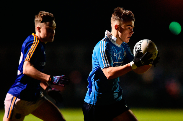 Colm Basquel of Dublin in action against Peter Lynn of Longford. Photo: David Maher/Sportsfile