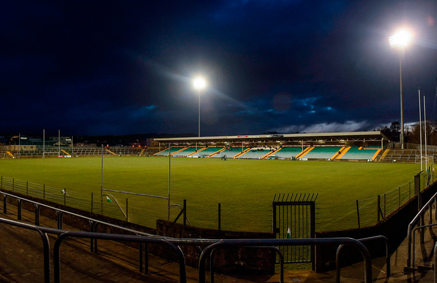 A general view of MacCumhaill Park ahead of the EirGrid Ulster GAA Football U21 Championship Quarter-Final Replay match between Donegal and Tyrone. Photo: Philip Fitzpatrick/Sportsfile