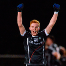 Seán Carrbine of Sligo celebrates. Photo: Piaras Ó Mídheach/Sportsfile
