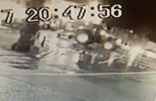 CCTV image of John Deere tractor being stolen from a yard in Carlow.