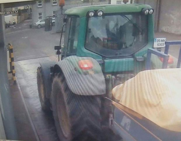 CCTV image of the tractor before theft.