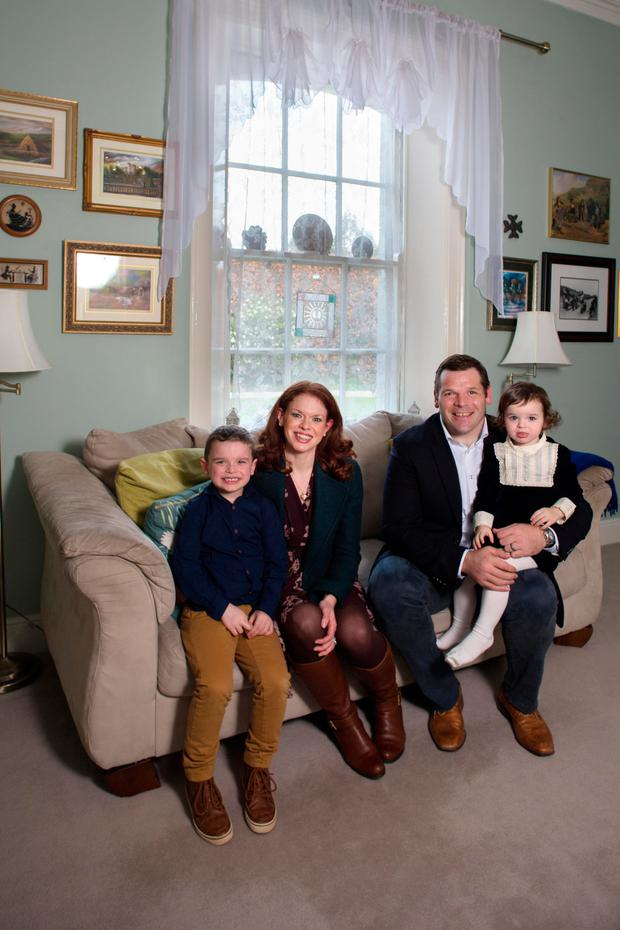 The Ross family at home. Photo: Tony Gavin