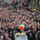 Funeral of Martin McGuinness Edenderry - Gerry Mooney *** Local Caption *** Funeral of Martin McGuinness Edenderry - Gerry Mooney