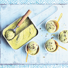 Pistacho and avocado ice cream