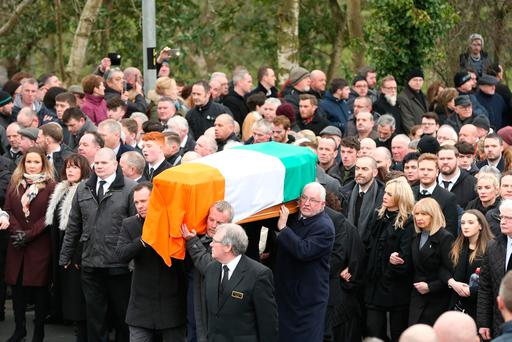 Clinton pleads for peace as Northern Ireland's McGuinness buried