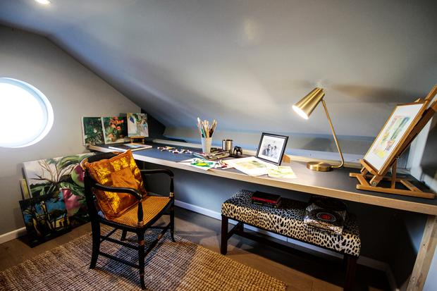 Gitte Trench's Country Cottage: Upstairs in Gitte's clever mezzanine, which acts as the perfect spot for her grandchildren to play. Photo credit: RTE